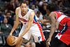 Dec 21, 2012; Auburn Hills, MI, USA; Detroit Pistons small forward Tayshaun Prince (22) during the third quarter against the Washington Wizards at The Palace. Pistons won 100-68. Mandatory Credit: Tim Fuller-USA TODAY Sports
