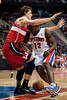Dec 21, 2012; Auburn Hills, MI, USA; Detroit Pistons point guard Will Bynum (12) looses the ball while being guarded by Washington Wizards small forward Jan Vesely (24) during the fourth quarter at The Palace. Pistons won 100-68. Mandatory Credit: Tim Fuller-USA TODAY Sports