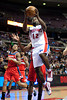 Feb 13, 2013; Auburn Hills, MI, USA; Detroit Pistons point guard Will Bynum (12) goes to the basket during the fourth quarter against the Washington Wizards at The Palace. Detroit won 96-85. Mandatory Credit: Tim Fuller-USA TODAY Sports