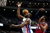 Feb 13, 2013; Auburn Hills, MI, USA; Detroit Pistons power forward Jason Maxiell (54) looses control of the ball while being pressured by Washington Wizards point guard John Wall (2) during the third quarter at The Palace. Detroit won 96-85. Mandatory Credit: Tim Fuller-USA TODAY Sports