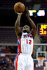 Feb 13, 2013; Auburn Hills, MI, USA; Detroit Pistons point guard Will Bynum (12) shoots during the fourth quarter against the Washington Wizards at The Palace. Detroit won 96-85. Mandatory Credit: Tim Fuller-USA TODAY Sports