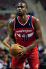 Feb 13, 2013; Auburn Hills, MI, USA; Washington Wizards center Emeka Okafor (50) shoots a free throw during the second quarter against the Detroit Pistons at The Palace. Mandatory Credit: Tim Fuller-USA TODAY Sports