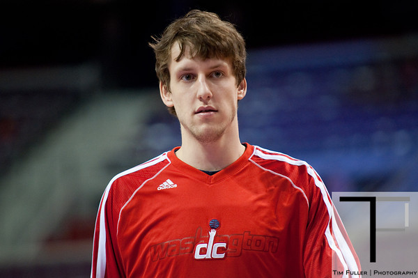Feb 13, 2013; Auburn Hills, MI, USA; Washington Wizards small forward Jan Vesely (24) before the game against the Detroit Pistons at The Palace. Mandatory Credit: Tim Fuller-USA TODAY Sports