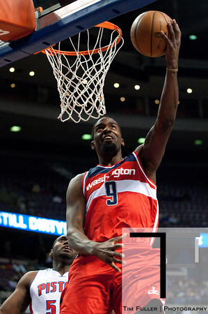 Feb 13, 2013; Auburn Hills, MI, USA; Washington Wizards small forward Martell Webster (9) during the first quarter against the Detroit Pistons at The Palace. Mandatory Credit: Tim Fuller-USA TODAY Sports