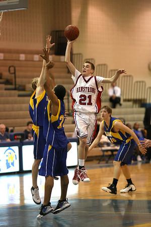 Wayzata HS vs Robbinsdale-Armstrong HS Boys JV Basketball (Mar 5, 2008)