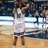 Cierra Hall takes aim from the corner