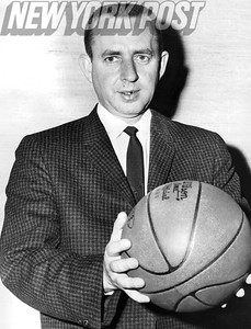 New York Knickerbockers Head Coach Eddie Donovan. 1961