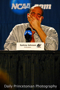 Princeton Coach Sydney Johnson tears up after a first-round NCAA defeat. (Taken for the Daily Princetonian. http://photo.dailyprincetonian.com/Sports/MBB/MBBvsUK/16261583_d6XBW5#!i=1222164815&k=CqfH2WD)