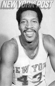 New York Knicks Harthorne Wingo flashing smile. 1973