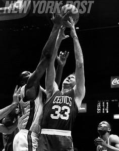 DERRICK COLEMAN Against LARRY BIRD Knicks V. Celtics. 1992