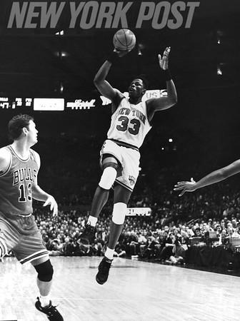PATRICK EWING Against LUC LONGLEY Knicks V. Bulls. 1994