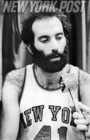 New York Knicks Neal Walk during a post game interview. 1975