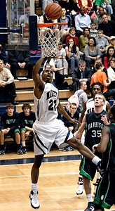 Marietta's Deandre Cannon takes a clear shot against Harrison Tuesday night.
