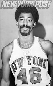 New York Nicks Dennis Bell close up. 1975