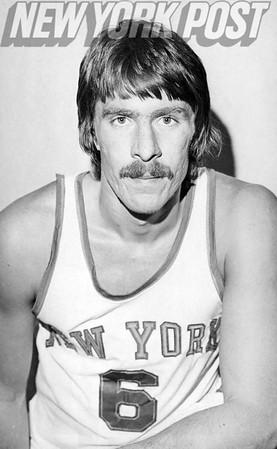 New York Knicks Tom Riker close up. 1973