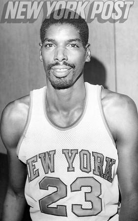New York Knicks player Aulcie Perry. 1975