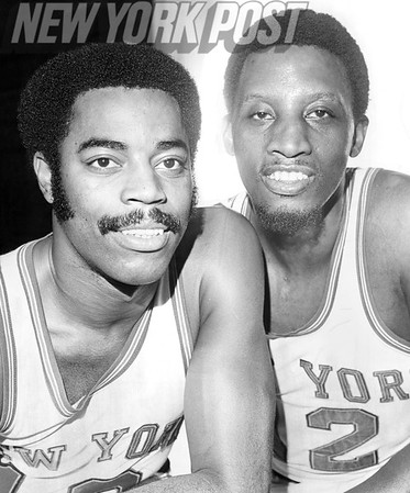 "Knicks Duo Walter ""Clyde"" Frazier and Dick Barnett. 1969"