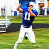 Christopher Aune | The Herald-Tribune<br /> Senior Pete Heil catches a touchdown pass after maneuvering out of reach of a Triton Tiger.