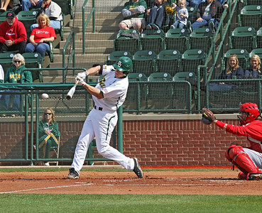 A hit for Baylor and the ball is on it's way.