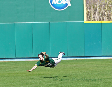 A flying catch by Baylor's center fielder.