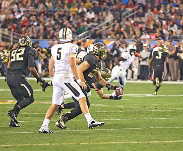 You can see Eddie Lackey catching the ball after Sam Holl deflected it, for a Baylor interception against UFC.