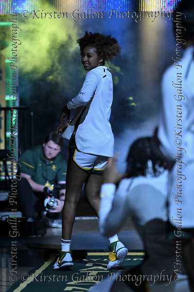 Baylor guard #2 Didi Richards strikes a pose, as she is inroduced as a starter.