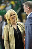 Baylor Head Coach Kim Mulkey has a pregame laugh with K State Head Coach Jeff Mittie.