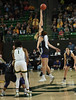 Baylor Center Lauren Cox just gets the air needed to out jump K State Center Ayoka Lee.