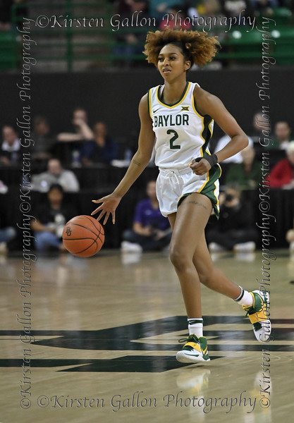 Baylor guard Didi Richards brings the ball up court to set up the play.