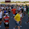Record-Eagle/ Keith King<br /> Runners begin the Traverse City State Bank Bayshore Marathon Saturday, May 29, 2010.