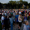 Record-Eagle/ Keith King<br /> Runners and spectators stand in a Northwestern Michigan College parking Saturday, May 29, 2010 as they prepare for the Traverse City State Bank Bayshore Marathon, Half Marathon and 10K.