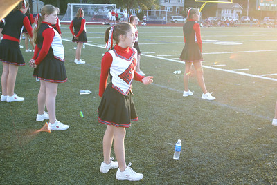 Norfolk Vikings Football vs. Westwood. Bea is the little Cheerer!