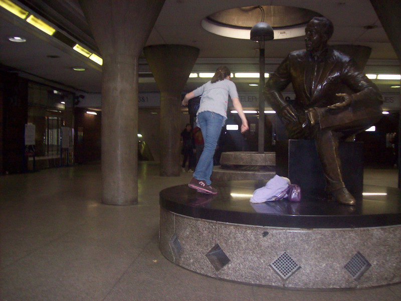What possessed Bea to start dancing around in front of everyone at Back Bay Station? Maybe the Statue...