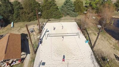 bracket play. Court flyover backwards