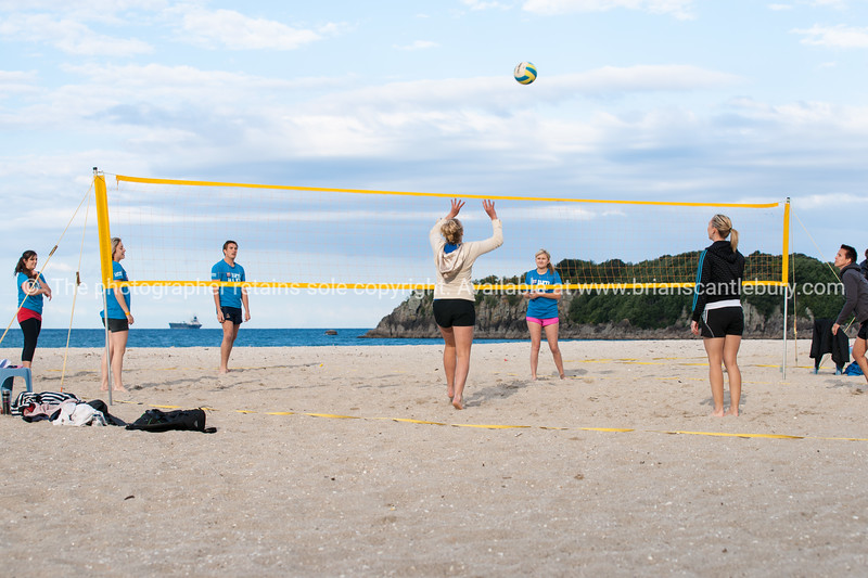 Beach sport - volleyball, Mount Maunganui, Bay of Plenty , New Zealand