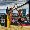 Alix Klineman spikes the ball during her match at the AVP San Francisco Open Tournament on Friday, July 6, 2018, in San Francisco, California (Kyle Adler/Bay Area News Group)