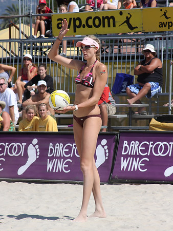 AVP Santa Barbara (2008) - Misty May and Kerri Walsh defeat Jenny Kropp & Nancy Mason in a Round 2 match (Sept. 6, 2008)