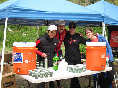 Happy shift 1 volunteers at work - C(ynthia)-Lo, Gerry, Deanne, Wendy-Lynn.  All will be running Comrades 56 mile ultramarathon in approx 3 weeks!