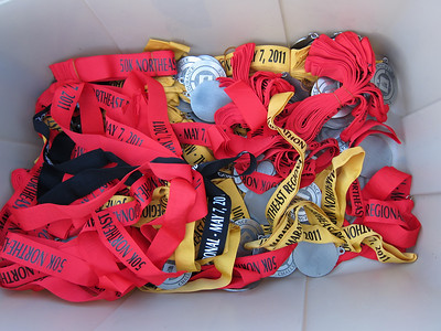 Leftover medals from various TNF events