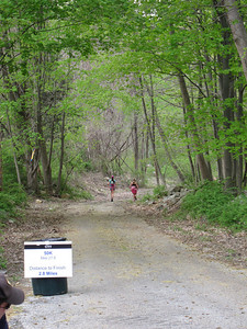 ...and away they go, 2.8 miles to the finish of the 50 mile race!