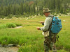 Harry flyfishing for brookies.