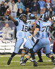 UNC quarterback Marquise Williams throws to Eric Ebron for a big  play. Photo by Dean Strickland OD.
