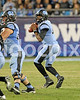 UNC quarterback Marquise Williams looks downfield for a receiver in this 3rd quarter drive. Photo by Dean Strickland OD.