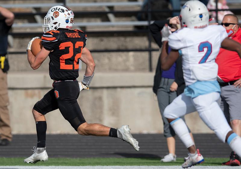 Logan Shobe 22, kick return TD