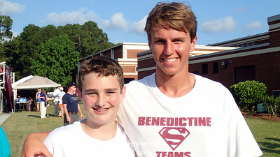 Gil & Drew right after BC's 2014 Baseball State Championship victory.