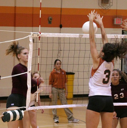 This one is fun -- K putting a block on a shot by LB. They were teammates on AMV a couple of seasons back.