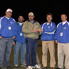 Making A Difference.  Jeff Mann is presented an award for his efforts in leading the first ever Middle School Football State Championship.  In the photo - Phil Hawkins,Tommy Bishop, Jeff Mann, Greg Mitchell, JT Bass.  All of these coaches, along with with others from around the state were responsible for the formation of Kentucky Middle School Football Associated (KYMSFA).  Their efforts have improved middle school football throughout Kentucky and improved opportunities for young men who hope play in high school and beyond.