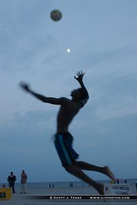 spike under moon