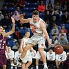 Beverly's Duncan Moreland fights for the ball against Belmont. Beverly took on Belmont during the Division 2 North championship at the Tsongas Center in Lowell Saturday. Beverly took home the North Sectional trophy, with a final score of 76-59. RYAN MCBRIDE/Staff photo 3/7/20