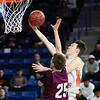 Beverly's Jack Crowley goes up for a lay up. Beverly took on Belmont during the Division 2 North championship at the Tsongas Center in Lowell Saturday. Beverly took home the North Sectional trophy, with a final score of 76-59. RYAN MCBRIDE/Staff photo 3/7/20